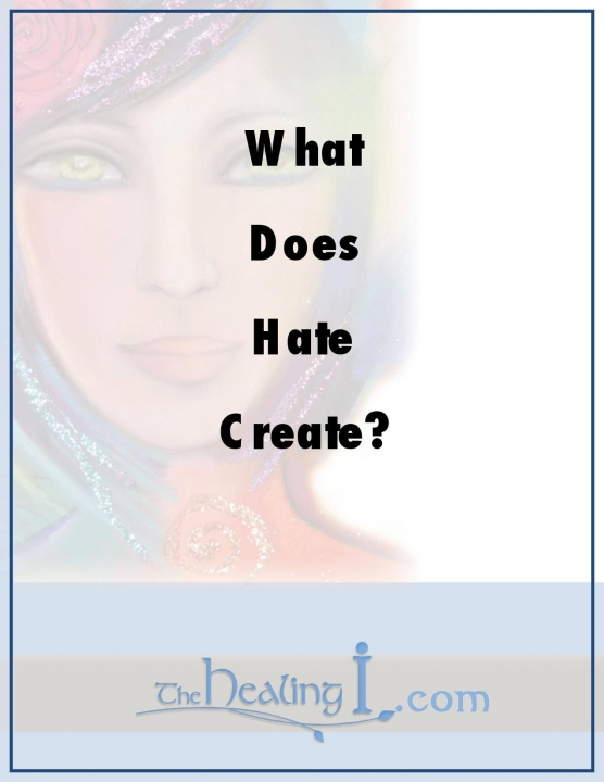 What does Hate Create?,
