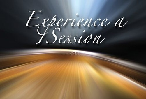 Experience a Session message on black and orange background